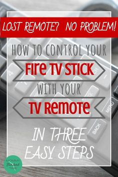 Control Your Fire TV Stick With Your TV Remote in Three Easy Steps. This hack also works when your Fire TV stick does not connect to your phone. Easily replace your lost Fire TV Stick remote! Tv Hacks, Netflix Hacks, Amazon Fire Stick, Amazon Fire Tv, Cable Tv Alternatives, Free Tv And Movies, Video Websites, Technology Hacks, Computer Help