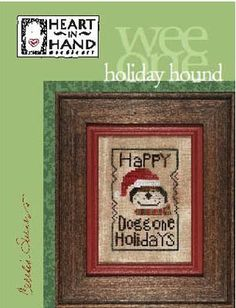 Heart in Hand - Holiday Hound [HH122929] - $5.00 : Laurel's Stitchery, The best little stitchery shop on the internet!