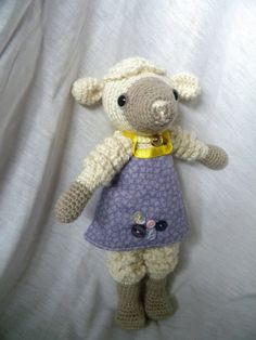 """Paula the crocheted amigurumi Sheep made of Merino and by guruloom, €40.00"" #Amigurumi  #crochet"