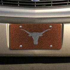 Texas Longhorns Glitter License Plate - Burnt Orange