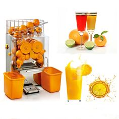 Stainless Steel Fruit Juice Extracting Machines Industrial Orange Lemon Juicer Juicing Machine