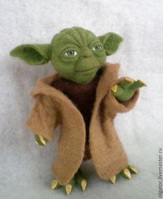Йода - валяная игрушка,авторская игрушка,портретная кукла,персонаж,Мастер Йода