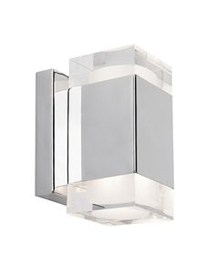 FINAL   ENSUITE 3 Sconce  WS12106   Elegant Refined Polished Chrome Square Wall  Sconce With