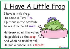 Songs, Poems and Nursery Rhymes Archives – Teacher Resources - Vorschule Rhyming Poems For Kids, Rhyming Preschool, Rhyming Activities, Rhyming Words, Therapy Activities, Educational Activities, Frog Poem, Nursery Rhymes Lyrics, Nursery Rhymes For Toddlers