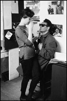 Writer Jack Kerouac at a Beat party. New York City. 1959. Photographer: Burt Glinn