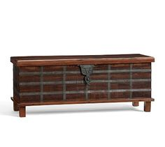 Franco Reclaimed Wood Trunk #potterybarn