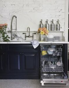 Black cabinets for a statement kitchen