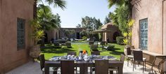 Private outdoor dining in Marrakech