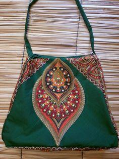 bolsa em tecido africano, capulana