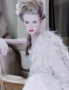 Marie Antoinette makeup look from TWO Magazine
