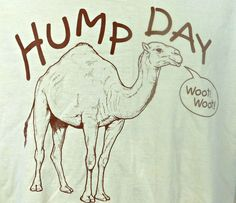 Hump Day Camel Wednesday Woot Woot Graphic T-shirt Large L Beige Short Sleeve  #Gildan #GraphicTee