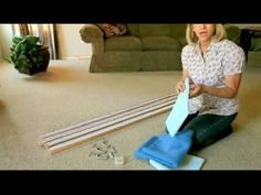 """Making your own portable quilt frame is easy and inexpensive to do, and is simple to set up and simple to store. Supplies: 4 pine boards that measure 1"""" x 3""""..."""