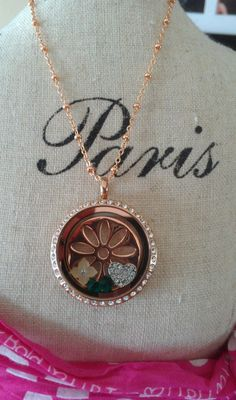 South Hill Designs large rose gold locket with swarovski crystals, daisy screen in rosegold and charms! LOVE! Join my South Hill Designs team today for as little as $29! Ask me more details: shdcharmed@yahoo.com Amy Jo  IA
