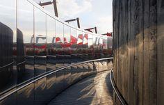 Aldworth James & Bond | London 2012 Coca-Cola BeatBox - mirrored panelled pathway