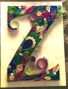 quilled letter Zz