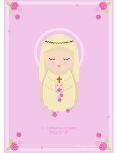 Catherine of Siena printable, free Catholic printables! Teaching Religion, Catholic Religion, Catholic Quotes, Catholic Saints, Catholic Kids, Catholic School, Kids Church, Catholic Homeschooling, Religious Education