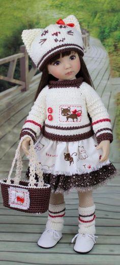 New crochet bebe sweets 63 ideas Crochet Doll Clothes, Knitted Dolls, Girl Doll Clothes, Girl Dolls, Baby Dolls, Pretty Dolls, Cute Dolls, Beautiful Dolls, Crochet Baby Hats