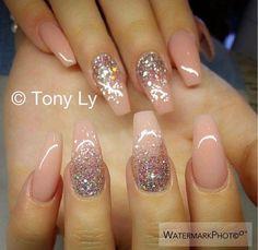 Fabulous Nails, Gorgeous Nails, Wedding Nails Design, Trendy Nail Art, Manicure E Pedicure, Nagel Gel, Fancy Nails, Sparkle Nails, Bling Nails