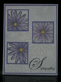 DRS Designs Rubber Stamps: With Sympathy Can easily be a birthday card or just a hello! DRS Designs Rubber Stamps: With Sympathy Can easily be a birthday card or just a hello! Stampin Up, Poinsettia Cards, Purple Cards, Making Greeting Cards, Some Cards, Card Making Inspiration, Sympathy Cards, Scrapbook Cards, Scrapbooking