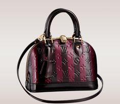 Louis Vuitton Maroon & Black Bag