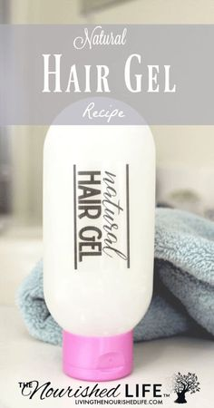 This natural hair gel recipe helps tame your lively locks. You'll love the flexible hold that enhances your hair's texture and manages frizz. Homemade Hair Gel, Diy Hair Gel, Homemade Skin Care, Homemade Beauty Products, Natural Products, Natural Hair Gel, Natural Hair Styles, Natural Beauty, Natural Skin