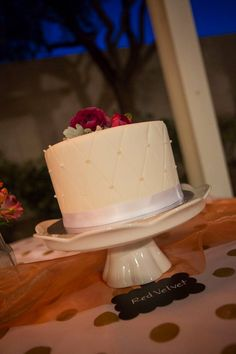 Our guests loved having a couple smaller cakes so they had all sorts of flavor options!