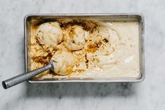 Honeycomb Ice Cream recipe: Crunchy caramelized honeycomb candy is folded into vanilla ice cream. #food52