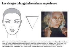 visage triangulaire à base supérieure : conseil Lunetist, les lunettes rondes aviateur seront idéales pour vous