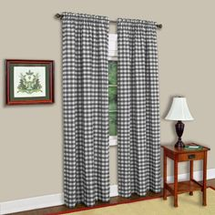 Buffalo Checkered Curtain Panel Available In Multiple Sizes And Colors