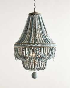 H9WKH Regina Andrew Design Malibu Beaded 6-Light Chandelier