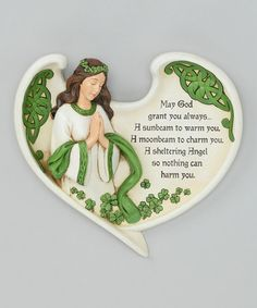 Take a look at this Irish Angel Blessing Plaque by Roman, Inc. on #zulily today!