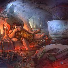 Man cave prehistory by Michal Dziekan