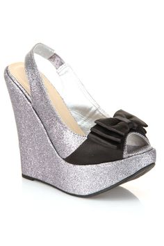 Morena Wedge with Bow