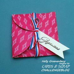 Cards en Scrap Challengeblog: Workshop 116 Cadeau doosje van 4 cirkels