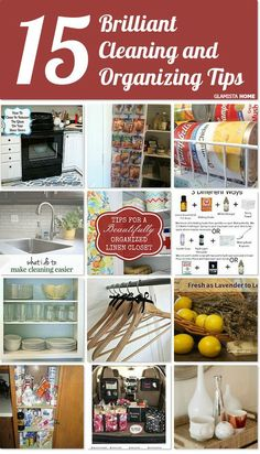 15 brilliant cleaning and organizing tips http://www.hometalk.com/l/bwU
