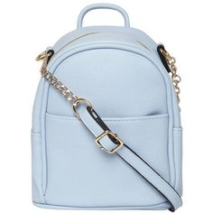 Dorothy Perkins Blue mini backpack crossbody ❤ liked on Polyvore featuring bags, backpacks, mini cross body bags, blue crossbody, crossbody bags, blue rucksack and mini bags