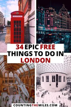 Did you know that London is one of the best cities in the world to see a ton of sights without spending a dime? Here is my list of the best things to do in London - all for free. This guide includes everything you need to plan your thrifty trip to London. Free London things to do | Visit london | Visit UK | Things to do in London | London food | London art | London fashion | London sights #London #UK #freethingsinlondon #londonsights #visitlondon #visituk Europe Destinations, Europe Travel Guide, Budget Travel, Travel Guides, Scotland Travel, Ireland Travel, Things To Do In London, London Travel, European Travel