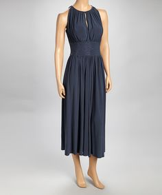 Take a look at this Metro 22 Gray Ruched Embellished Sleeveless Dress on zulily today!