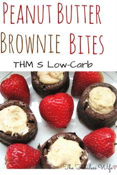 Peanut Butter Brownie Bites (THM:S)
