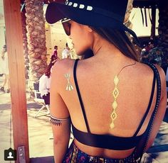 Temporary Metallic Tattoo - V & V Jewels