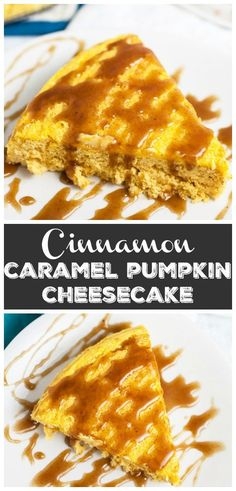 This Pumpkin Cheesecake with Cinnamon Caramel Sauce tastes like pumpkin pie but is much easier to make! This homemade cheesecake is the perfect recipe for easy fall baking! Winter Desserts, Mini Desserts, Easy Desserts, Delicious Desserts, Fudge Recipes, Best Dessert Recipes, Cheesecake Recipes, Sauce Recipes, Instapot Cheesecake