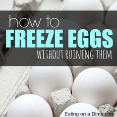 Learn how to freeze eggs without ruining. Here are easy tips to help you freeze eggs, so you can stock up and save money when eggs go on sale. Frugal Meals, Cheap Meals, Freezer Meals, Freezer Recipes, Can You Freeze Eggs, Preserving Eggs, Freezing Eggs, Emergency Preparation, Egg Recipes