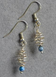 Unique silver earrings with blue stone from Lisa Astrup Art & craft by DaWanda.com