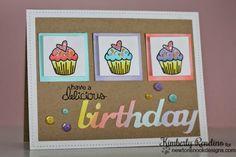 cupcake card by Kimberly Rendino   kimpletekreativity.blogspot.com   Newton's Nook Designs