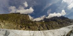 looking up at the peaks from Mer de Glace. Mont Blanc trip. August 2014