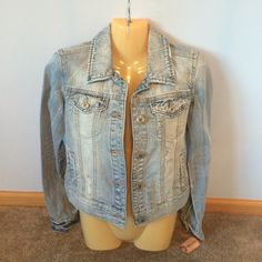 MUDD jean jacket NWT slightly distressed light denied jacket Mudd Jackets & Coats Jean Jackets
