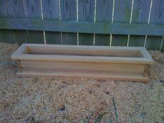 36 Window Box Cypress Wooden Planter Flower New Wood Patio