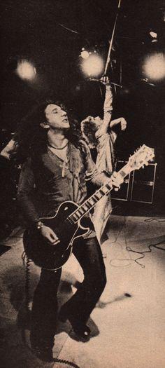 Mick Box and David Byron of Uriah Heep 1974