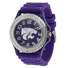 Kansas State Wildcats Women's Rhinestone Jelly Watch SilverBin. $24.99