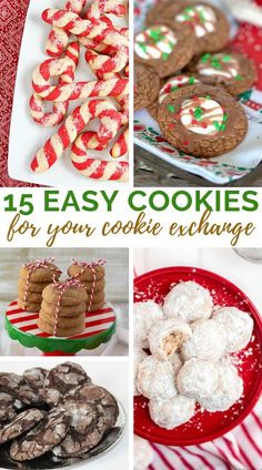 Cookie Exchange days are my favourite way to connect with friends - sharing 15 of our easy to bake faves! Soft Ginger Cookie Recipe, Chewy Ginger Cookies, Gooey Butter Cookies, Hot Chocolate Cookies, Cake Mix Cookies, Christmas Cookie Exchange, Best Christmas Cookies, Holiday Cookies, Christmas Desserts